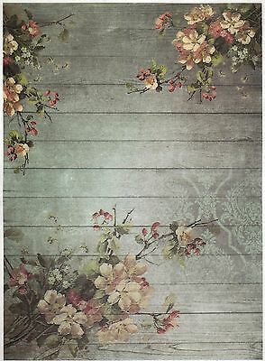 Rice Paper for Decoupage Scrapbook Craft Sheet Blossom Wallpaper