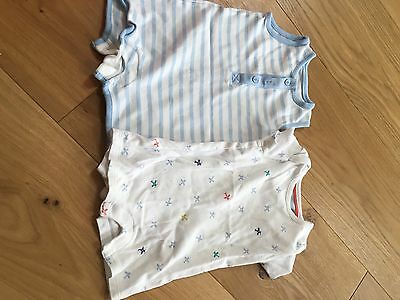 2 Boys Summer Rompers 3-6 Months Marks And Spencers