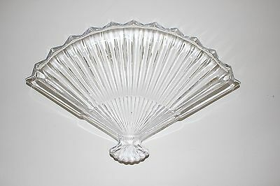 Dresser Tray Glass Fan Shaped Trinket Dish