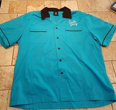 Sailor Jerry Bowling Shirt Mens LG
