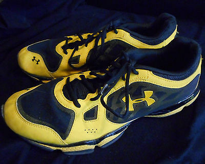 Under Armour Mens Micro G Pulse Training Shoes- Yellow & Black- Sz 11