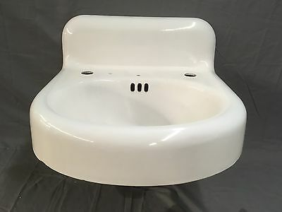 Antique Cast Iron White Porcelain Bathroom Sink Kohler Plumbing Old Vtg 480-17E