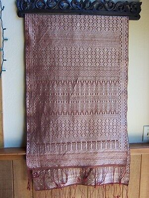 SONGKET-Indonesian gold thread textile-weaving-extremely fine-Museum Quality