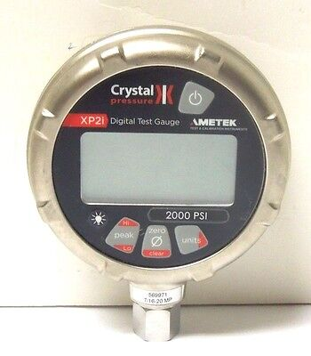 AMPTEK CRYSTAL PRESSURE XP2i DIGITAL TEST GAUGE 2000 PSI <303U3