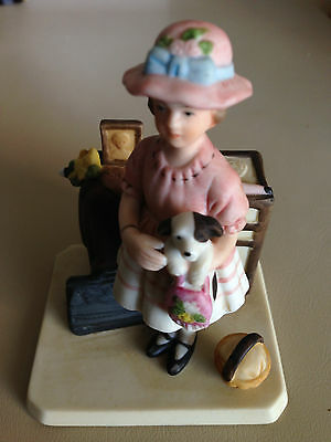 """Norman Rockwell """"Vacation's Over"""" Figurine"""