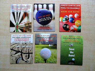 Six Loyal Order of Moose 2018 International Sports Tournament Magnets Save Dates