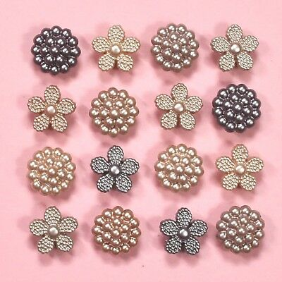DRESS IT UP Buttons Vintage Pearls 8994 - Embellishments