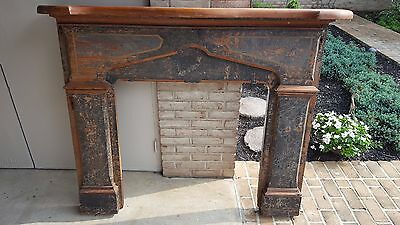 Antique Solid Oak Fireplace Mantle from late 1700s