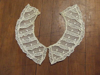 Antique Vintage Lace Peter Pan Dress Collar
