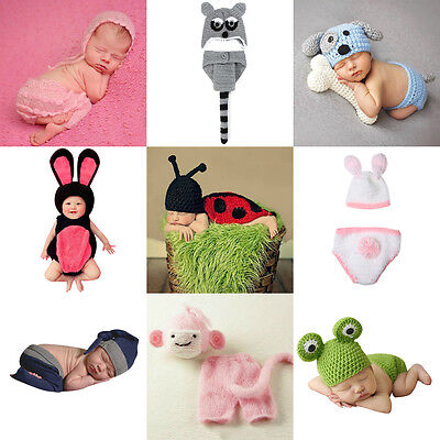 Baby Boy Girl Knit Infant Newborn Photo Crochet Costume Photography Prop Outfits