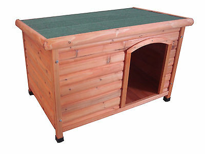 Dog Kennel - Flat Roof Timber Kennel Large