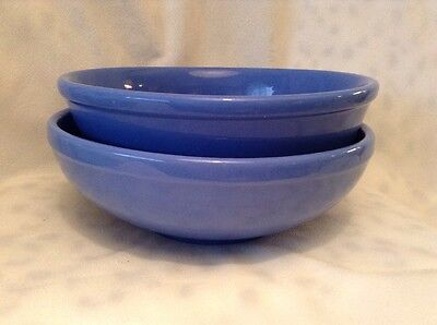 Vintage Oxford Ware Blue Serving Mixing Bowl Lot Of 2
