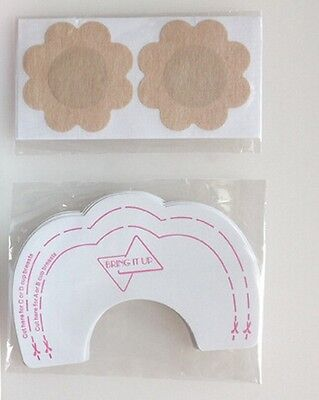 24Pcs Breast Lift Tape + Nipple Pad Covers Invisible Clear Push up Stick on Bra