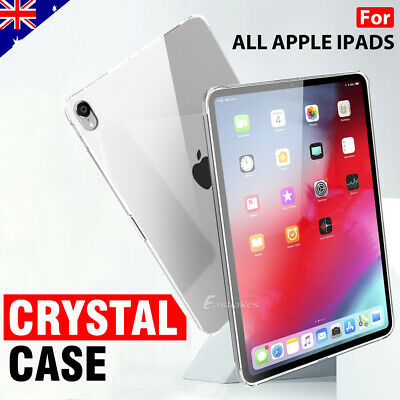 Apple iPad Pro 10.5 12.9 iPad 5 6 2018 Crystal Clear Soft Silicone Case Cover