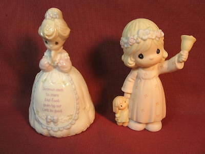 Two Precious Moments Figurines  One Bell and One Bell Ringer