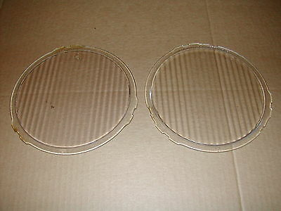 Antique Glass Headlight Headlamp Lens Dodge Brothers W-14933 Pair 14933 Lenses