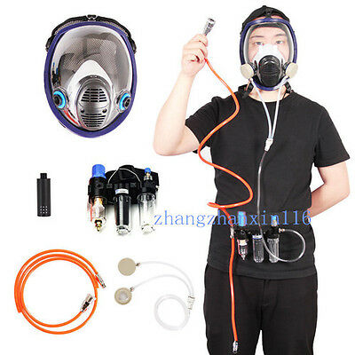 3-In-1 Function Supplied Air Fed Respirator Kit System for 3M 6800 Face Gas Mask