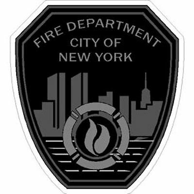4 Inch Non-Reflective FDNY New York Fire Dept Subdued Sticker Decal