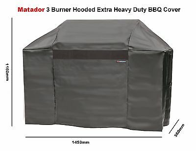 Matador Extra Heavy Duty BBQ Cover for 3 Burner Hooded BBQ  - Easy Fit