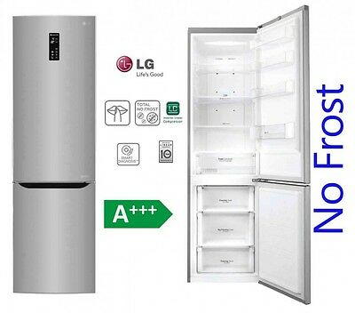lg k hl gefrierkombination 201 cm stand k hlschrank edelstahl no frost a neu eur 599 99. Black Bedroom Furniture Sets. Home Design Ideas