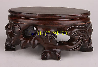 Wood Senior Exquisite Snuff Bottle Display Base Collect Show Stand