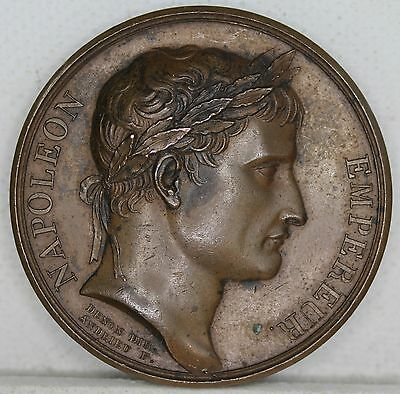 "France. Napoleon Coronation ""The Senate & The People"" Bronze Medal, Yr 13, 1804."