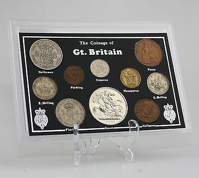 c.1945-51 George VI Coin Set/Collection - 10 Coin Set in Presentation Pack (KZ88