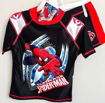 New 3~6 Swimwear Spiderman Kids Swim Suit Swimming Bathers Top Trunks Boys Child