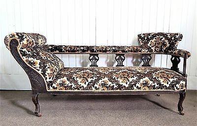 Antique carved double ended chaise longue day sofa for Chaise longue double exterieur