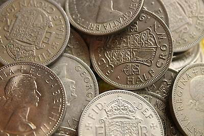 25 Pack Of Halfcrowns Bulk Lot Of Old British Coins
