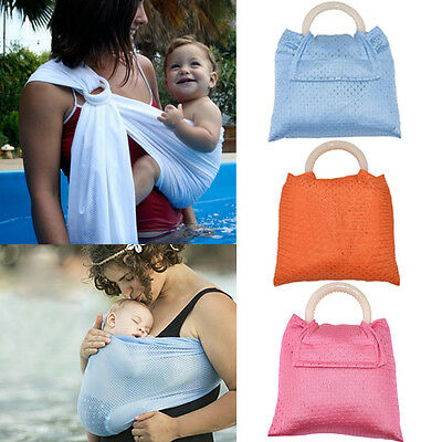 Breathable Baby Slings Wrap Carrier Cool Summer Soft Adjustable Backpack Carrier