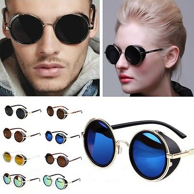 Hot Cool Vintage Style Unisex Sunglasses Colorful Round Frame Restoring Mirror