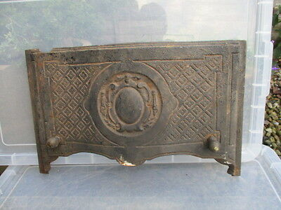 Victorian Cast Iron Fire Hood Architectural Antique Floral Beehive Knob 1890 Old