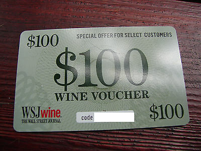 WSJ Wine Voucher/Coupon $100 Tired of Hangovers? Have some good wine:)