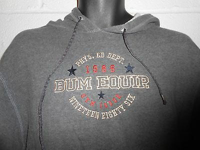 Vintage 90s Women's BUM Equipment Gray Hoodie Hooded Sweatshirt Large