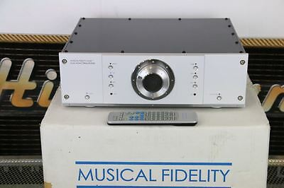 MUSICAL FIDELITY A308cr PREAMPLIFIER Superb Example/Working BOXED/Remote
