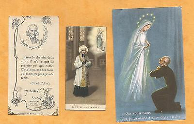 LOT 3    IMAGES PIEUSES HOLY CARD Cure ARS JEAN MARIE VIANNEY