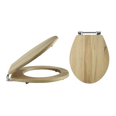 Kinglet Natural Walnut Wooden Soft Close Toilet Seat With Quick Release Hinges