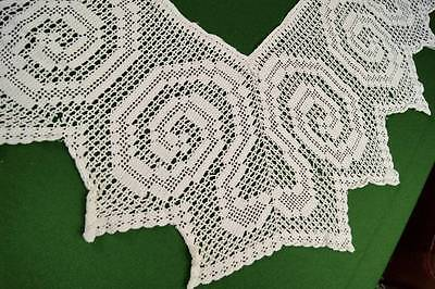 VINTAGE LENGTH OF CROCHET LACE BORDER FOR TABLECLOTH Crafts Remake #5
