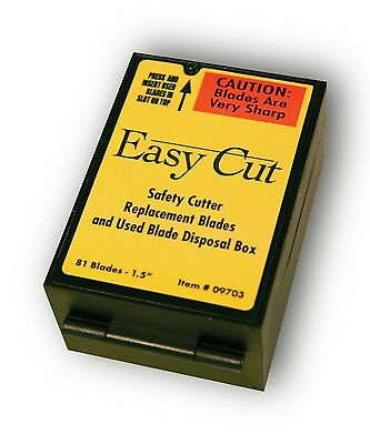 Easy Cut Safety Box Cutter Knife REPLACEMENT BLADES 81 EA/BX Easycut