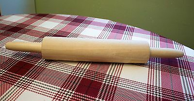 "Wooden Rolling Pin 10"" rolling surface 17"" long - New"