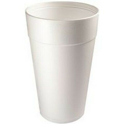 Renown 2475870 Styrofoam Drink Cups, White, 20 Oz., 500 Per Case NEW