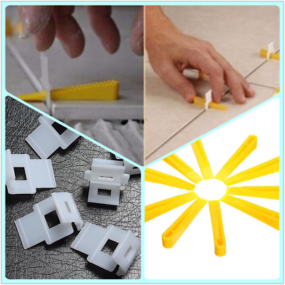 50/100pcs Wedge Clips Tile Flat Leveling System Wall Floor Spacers Strap Tool