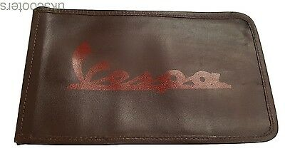 ukscooters VESPA BROWN GENUINE LEATHER HANDY TOOL KIT STRONG POUCH NEW
