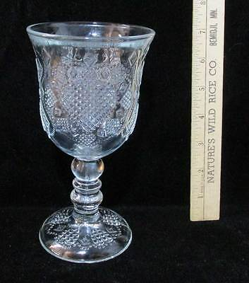 Avon Wine Goblet 1978 Hearts Lovers Valentines Day Diamond Glass 8 oz Vintage