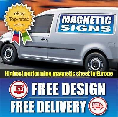 2 X Full Colour Printed-Magnetic Vehicle Lorry Van Car Signs Pair Magnet Sticker