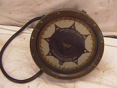 Vintage Ship Compass Brass Sperry Repeater Large 38 lbs. Dodge