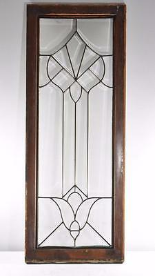 Antique Large Beveled Clear Glass Window