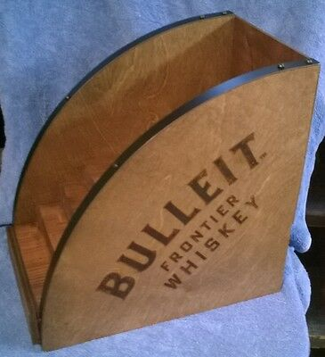 Bulleit Frontier Whiskey Wood Liquor Store Bottle Display -New! Great 4 ManCave!