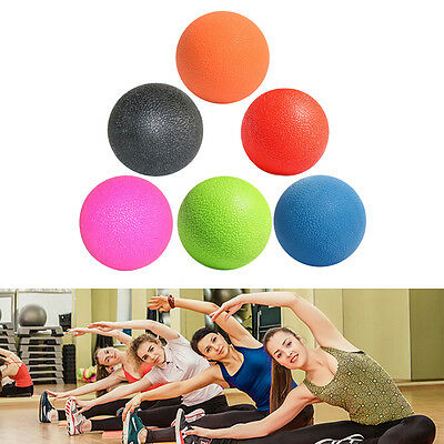 Gym Crossfit Fitness Muscle Massage Lacrosse Ball Full Body Exercise Yoga Ball #